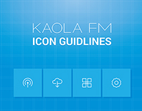 Icon gudlines for kaola fm.