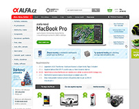 Alfa.cz - redesign e-shopu