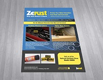 Zerust New Product Advertising Flyer