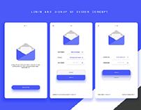 App. UI/UX design