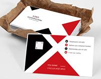 Black red minimalist style universal business card