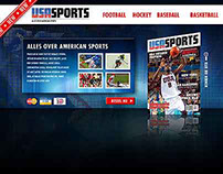 USASPORTS magazine website concept 2010