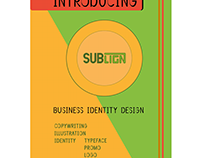 Sublign company brochure - business identity design