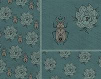 Beetle&Peony textile print