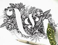 Botanical Monogram Illustrations