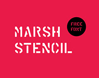 MARSH STENCIL Free Font