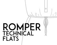 Romper Technical Flat Studies