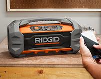 RIDGID 18v Jobsite Bluetooth Radio