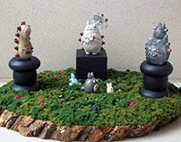 Ghibli Steampunk Sculpture Garden I