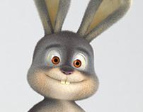 Happy Easter 2017 ! 3D bunny.