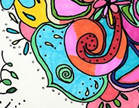 Sharpie doodle for my aunt
