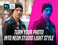 Neon Light Studio Photoshop Action