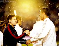 Wallpaper Messi & CR7