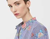 Floral print for MANGO