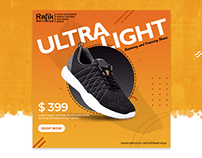 Offer Banner and Poster Design for Shoes Marketing