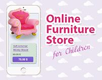 Online store of children's furniture (Disney)