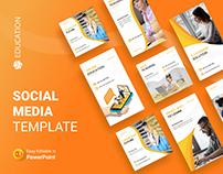 Education Social Media PowerPoint Templates