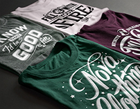 Typographic T-shirts
