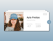 User profile. #DailyUI #006