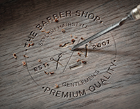 The barber shop branding