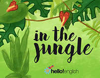 "Book illustrations ""In the jungle"""