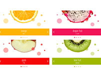 Fruit page design