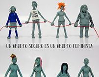 Poster y cómic para ONG sobre Aborto Seguro