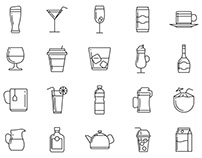 20 Beverages Vector Icons