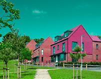 Colour of Croydon New Estate Apartment .