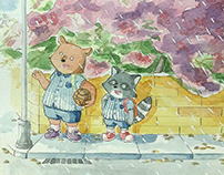 Raccoon and Bear (Childrenbook project)