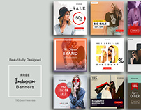FREE Instagram Banners Templates - PSD