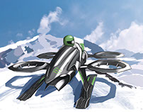 Monster Quadrotor Snow Mobile