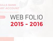 Web Folio 2015 - 2016