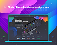 Blockchain investment platform for Cicotex ICO project
