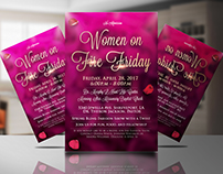 Women on fire friday - Flyer