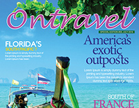 Free Travel Magazine Cover PSD Template
