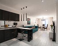 """Apartment """"Turquoise tones"""""""