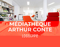 Logotype de la médiathèque Arthur Conte