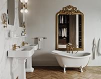 Classic Master Bathroom | CGI