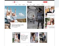 Rosen – Creative Magazine Free PSD & HTML Template