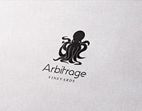 Logo for Arbitrage Vineyard.