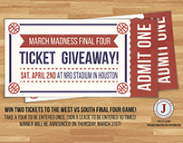March Madness Ticket Giveaway Flyer
