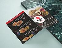Bi Fold A4 Size Menu for Your Cafe or Restaurent