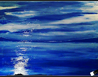 blue mirage - Oil painting
