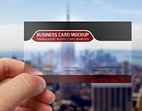 Transparent business card mockup template PSD