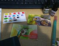 Water colour birds