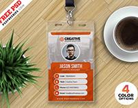 Free Office ID Card Design PSD Bundle