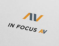 In Focus AV Logo Design