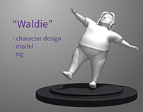 3D Character Creation and Object Interaction Animation