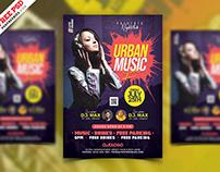 Urban Live Music Concert Poster Flyer PSD
